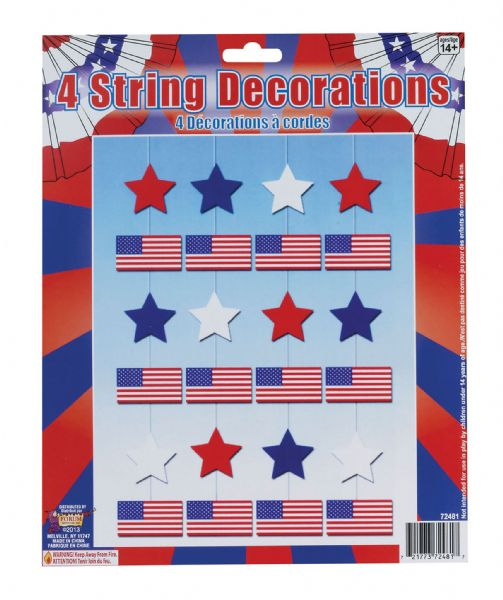 USA 4 String Decoration American United States Party Decoration